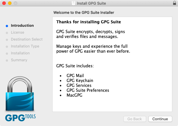 GPG Suiteのインストール